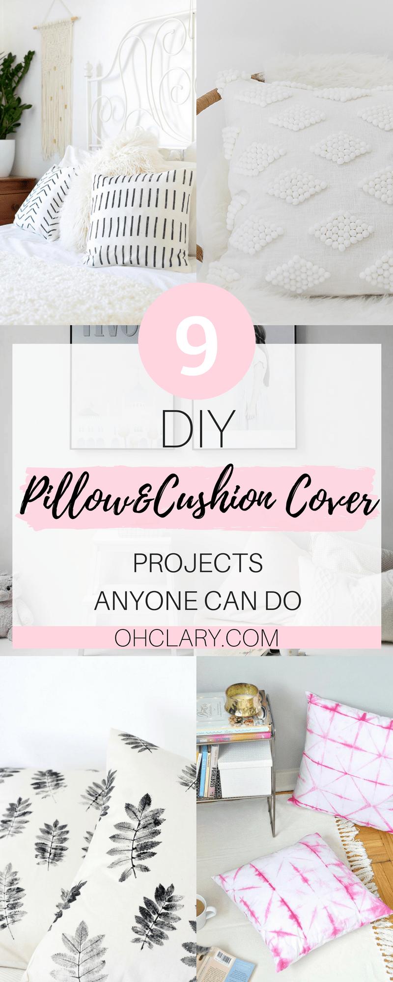 diy cushion cover and pillow cover ideas diy cushion covers diy