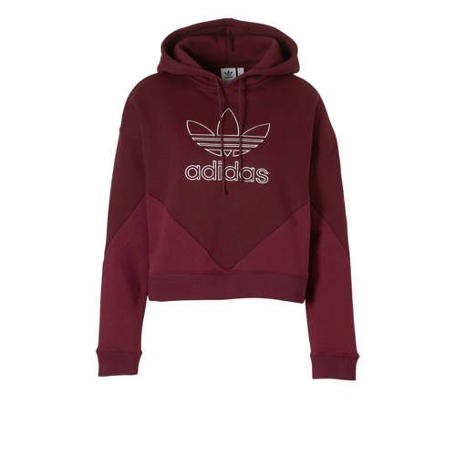 adidas originals hoodie bordeauxrood - Adidas originals ...
