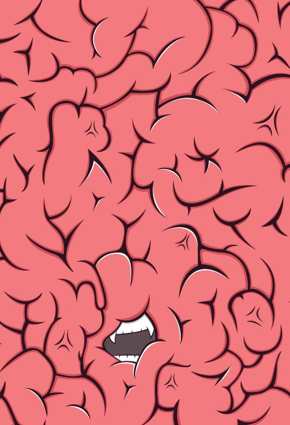 Milk Of A Designer Moad Series Mobile Cases Brain Art Brain Illustration Graffiti Art