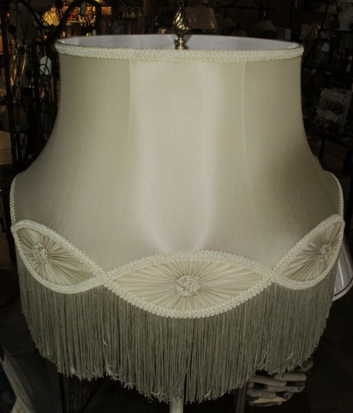 Sage Green Cream Also Available Scallop Gallery Bell Silk Vintage Floor Lamp Shade 13 X19 X16 Includes Fri Small Lamp Shades Antique Lamp Shades Lamp Shades