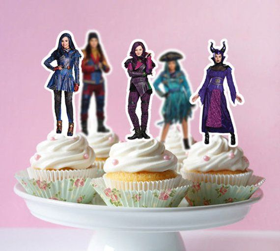 Disney Descendants Printable Cupcake Topper, Descendants ...