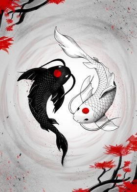 'Japanese Koi Fish Vision' Metal Poster Print - Geek Zen | Displate