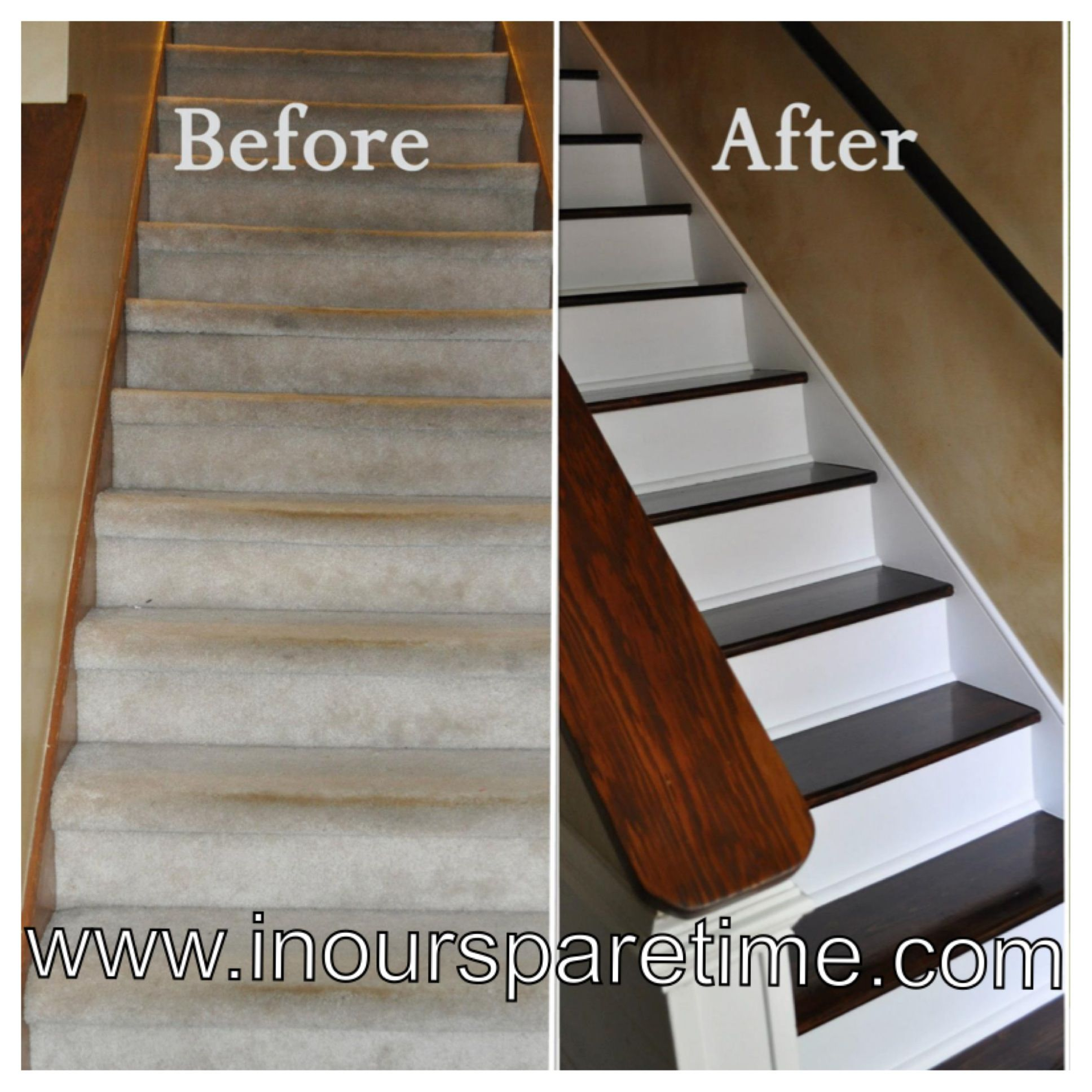 Charmant How To Stair Makeover! Http://www.inoursparetime.com/staircase Remodel.html