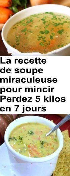La recette de soupe miraculeuse pour mincir – Perdez 5 kilos en 7 jours