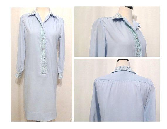 1960s Shirt Dress/ Shift Dress / Sheath Cocktail by BibbysRocket, $74.00