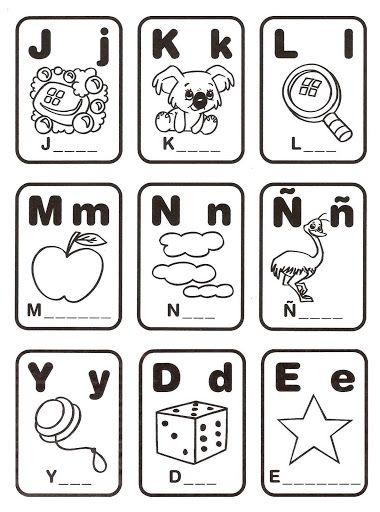Loteria Para Colorear Y Formar Palabras Dibujos Para Colorear Alphabet Word Wall Cards Abc Cards Printable Flash Cards