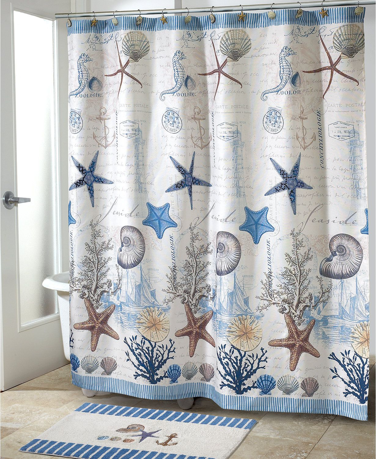 Hotel Collection Bath Accessories Waffle Shower Curtain