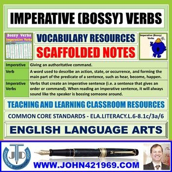 Imperative Bossy Verbs Scaffolding Notes