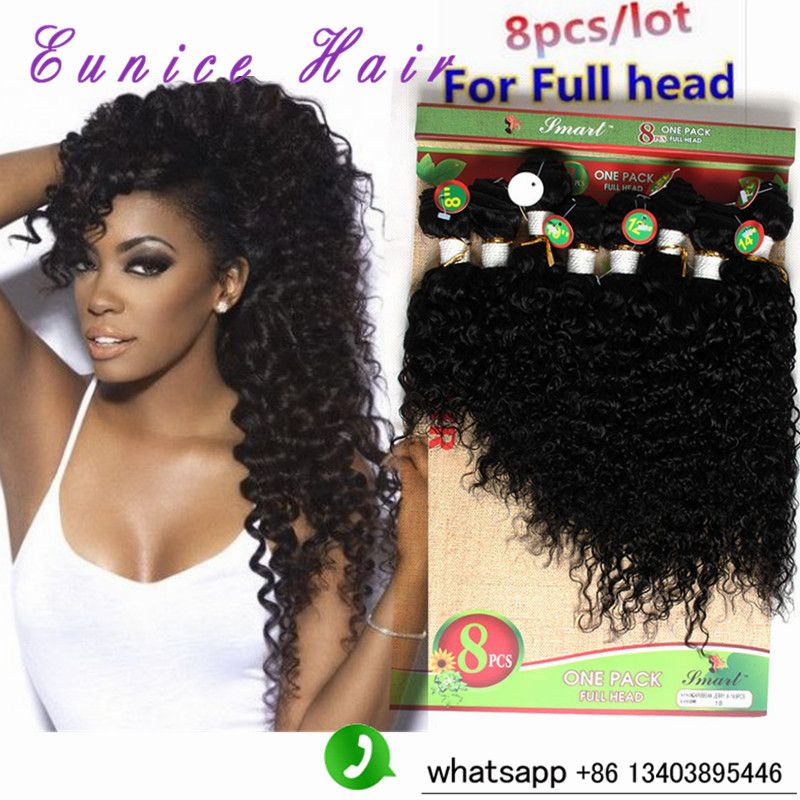 Malaysian Deep Wave ombre Curly Weave hair extensions 8-14\