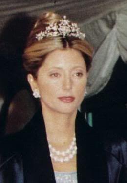 Tiara corsage de Ingrid, llevada por Marie Chantal