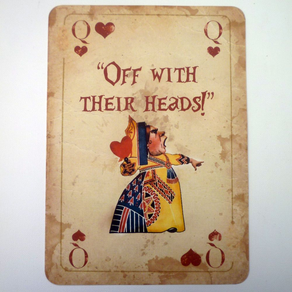 mad hatter teparty invitations pinterest%0A   Alice in Wonderland A  QUOTE Giant Playing Card Prop Mad Hatters Tea Party  Q