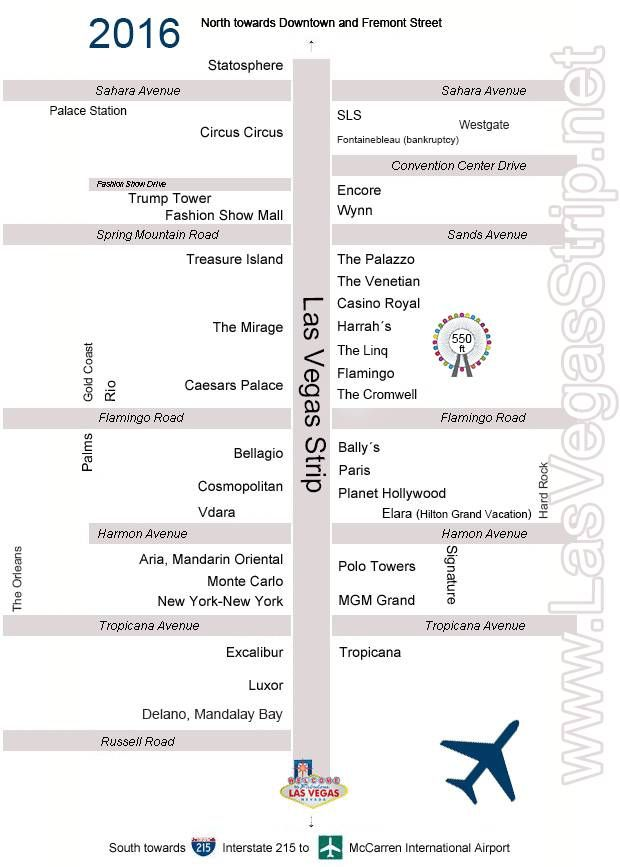 Hotel Map Of The Las Vegas Strip 2017 With All Hotels And S Our Up To Date Is Great For Comparing Rates Location