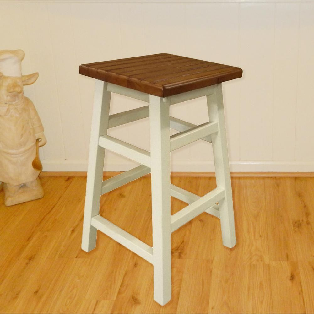 Carolina Cottage Colby Stave 23 75 In Antique White Bar Stool