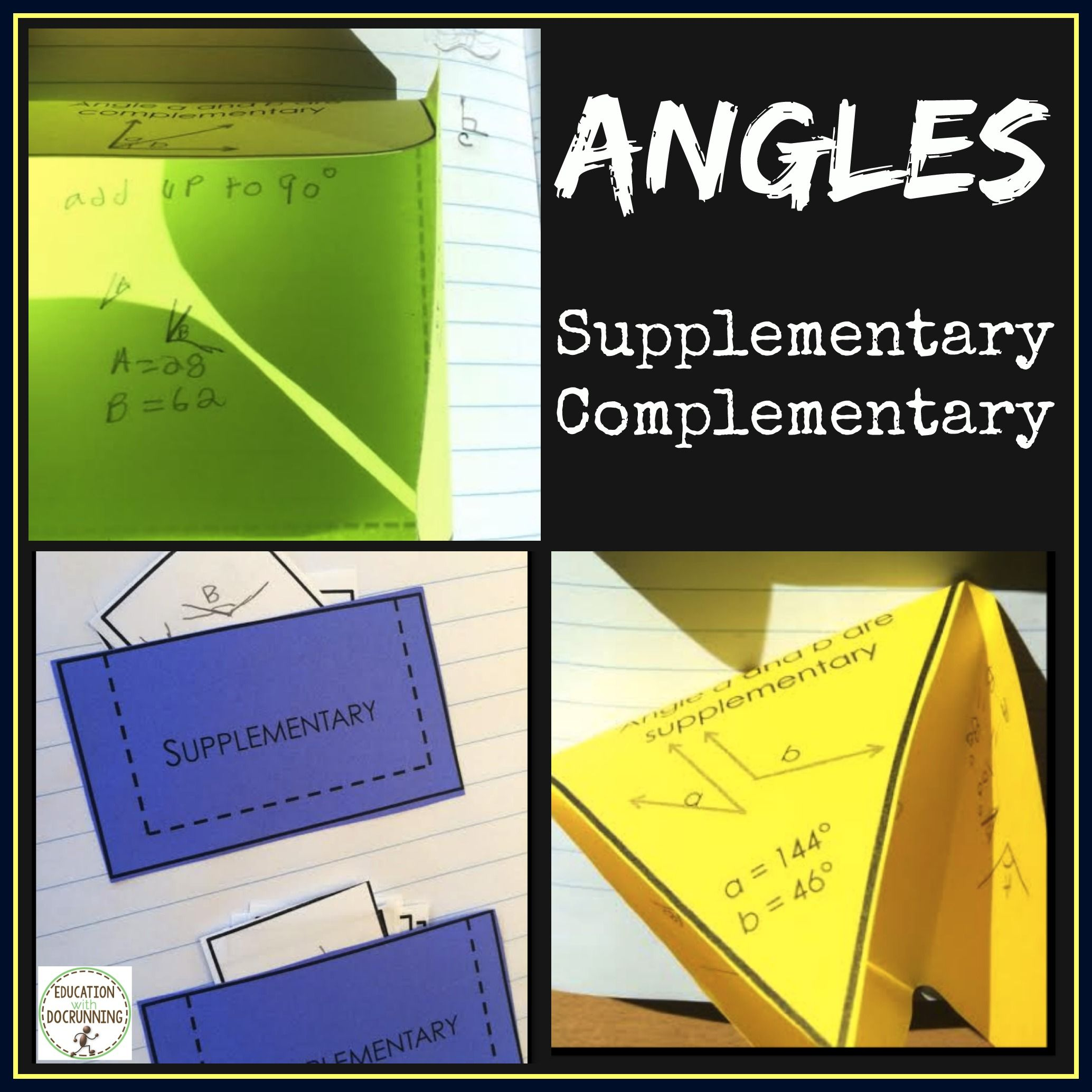 Angles Complementary And Supplementary Angles Notes And