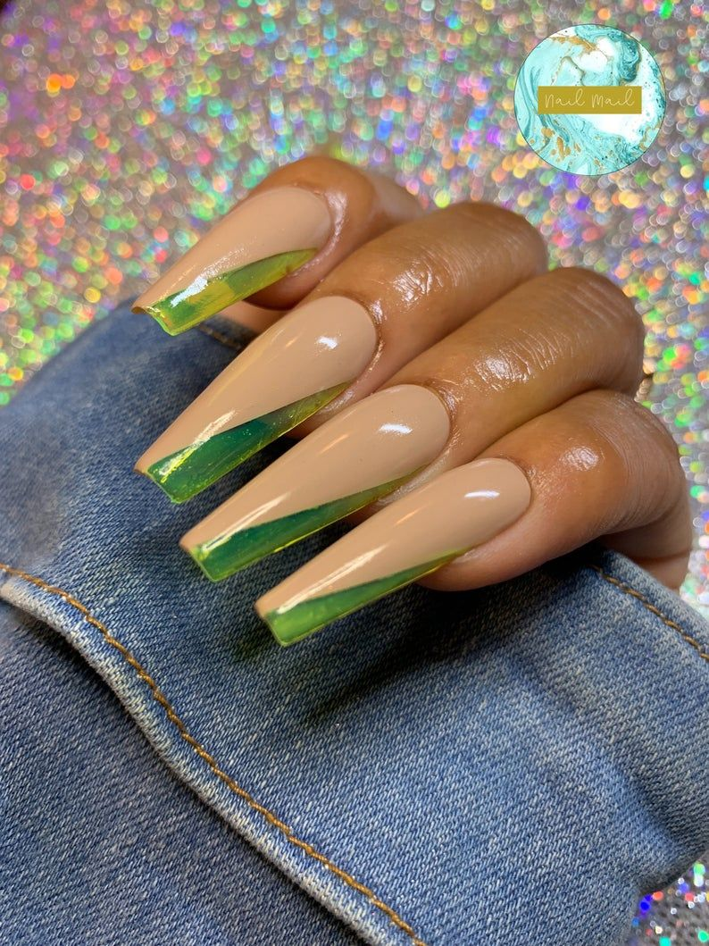 Jelly Side Tip Set Jelly Gel Nails Fake Nails Press Ons