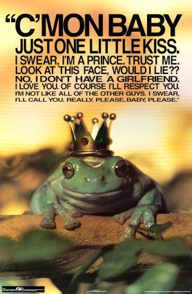 Time to Kiss a Frog | funny | Frog quotes, Vintage funny