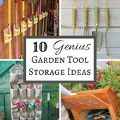 10 Genius Garden Tool Storage Ideas  Garden Tool Organization  Tool Organization  Tool Storage  Garden Shed ideas
