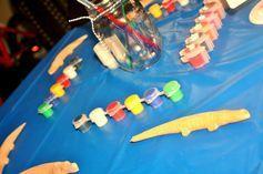 boy's gator birthday party activities www.spaceshipsandlaserbeams.com