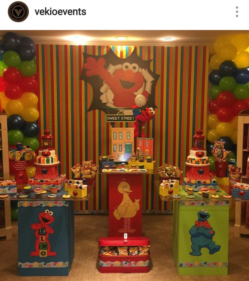 Elmo Theme Birthday Party Dessert Table and Decor : elmo decorations ideas - www.pureclipart.com