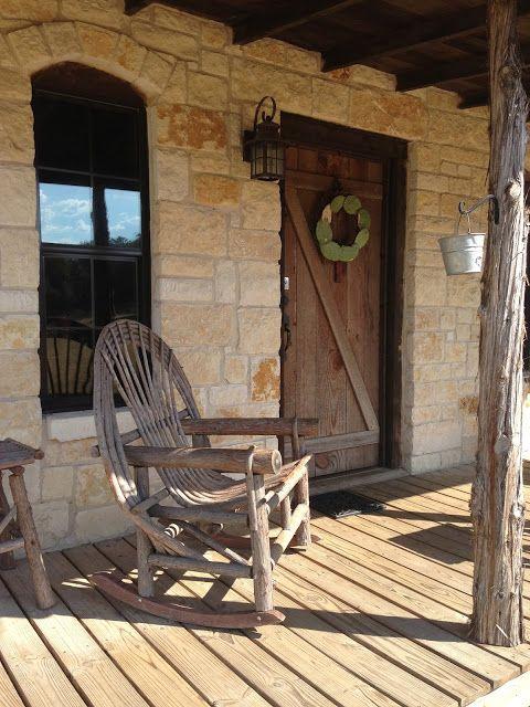 Texas Hill Country Architecture Stone Cedar Barn Door