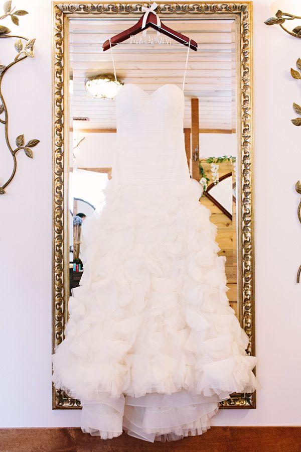 romantic Liancarlo wedding gown // photo by Tess Pace // http://ruffledblog.com/glam-romance-colorado-wedding