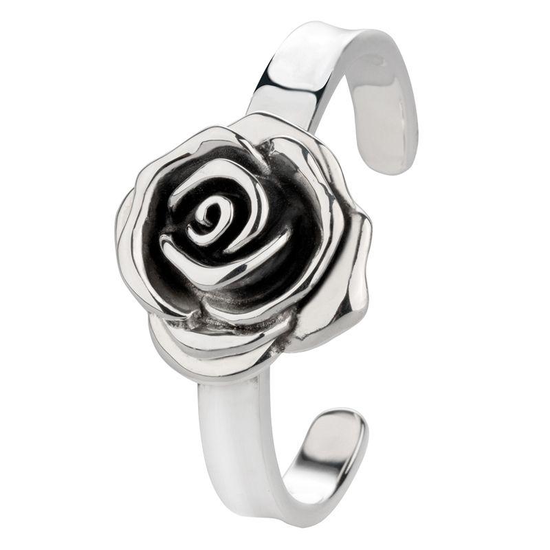 Zilveren spangarmband roos groot | Lucardi.nl