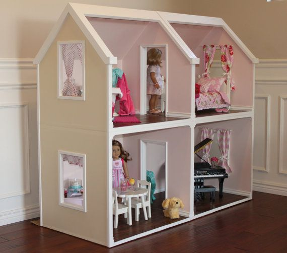 Doll House Plans for American Girl or 18 inch dolls 4 Room NOT ACTUAL HOUSE