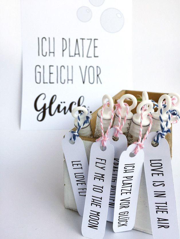 20 Seifenblasen Mit Etiketten Fur Die Hochzeit Hochzeitsideen