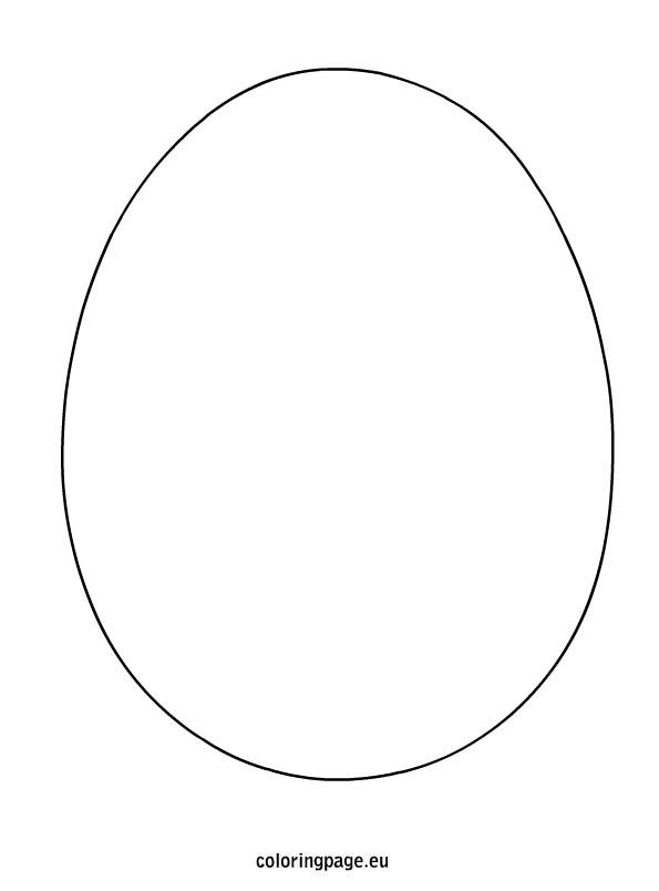 Easter Egg Shape Coloring Page Shape Coloring Pages Egg Template Easter Eggs