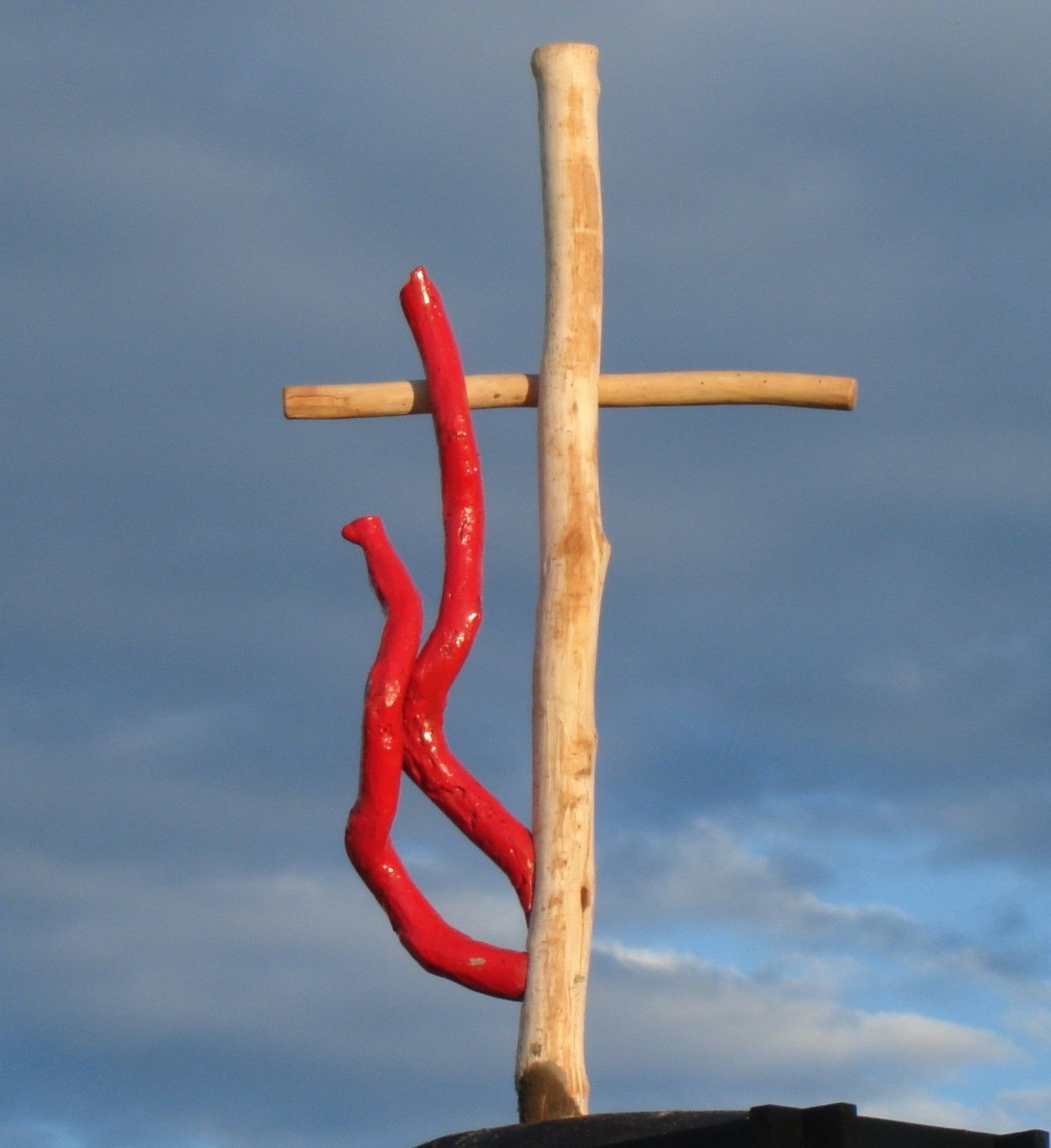 Methodist Cross And Flame