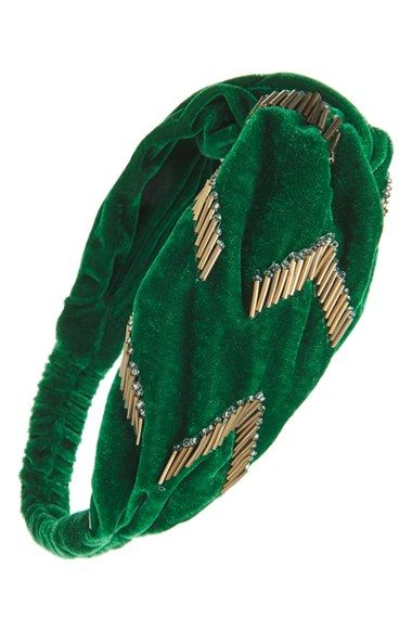 7614e3d7c8c Berry  Emerald City  Twisted Velvet Head Wrap available at  Nordstrom