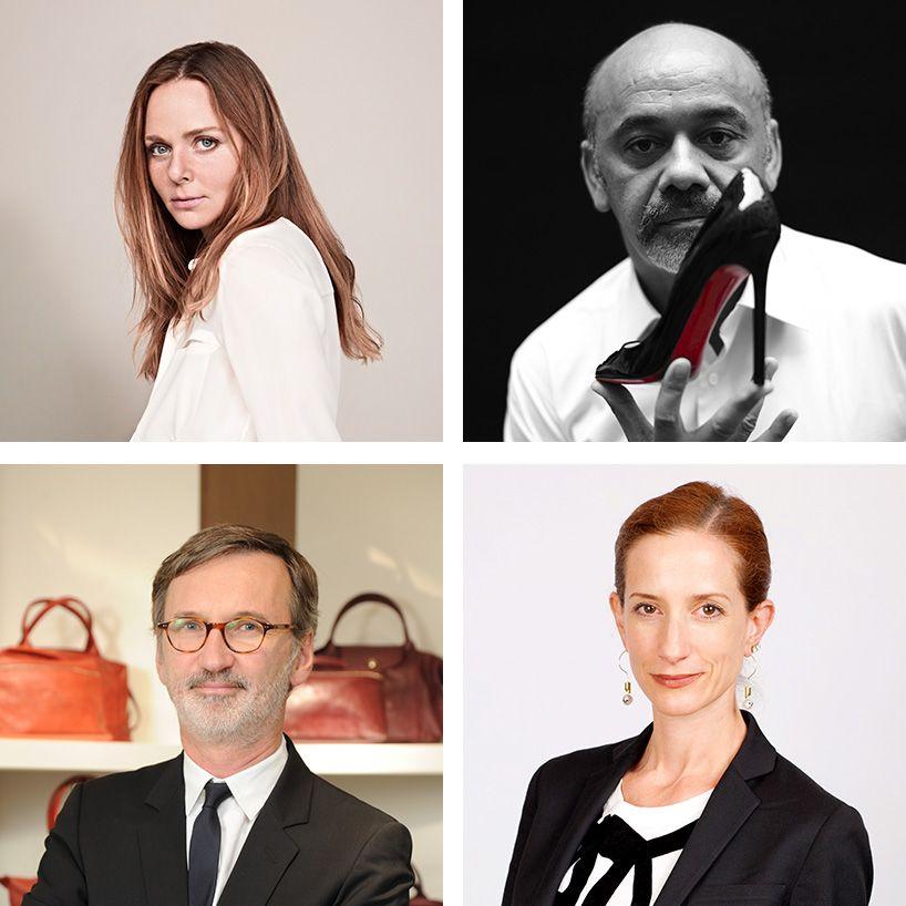 2014 financial times business of luxury summit, mexico city (clockwise: christian louboutin, vanessa friedman, jean cassegrain, stella mccartney)
