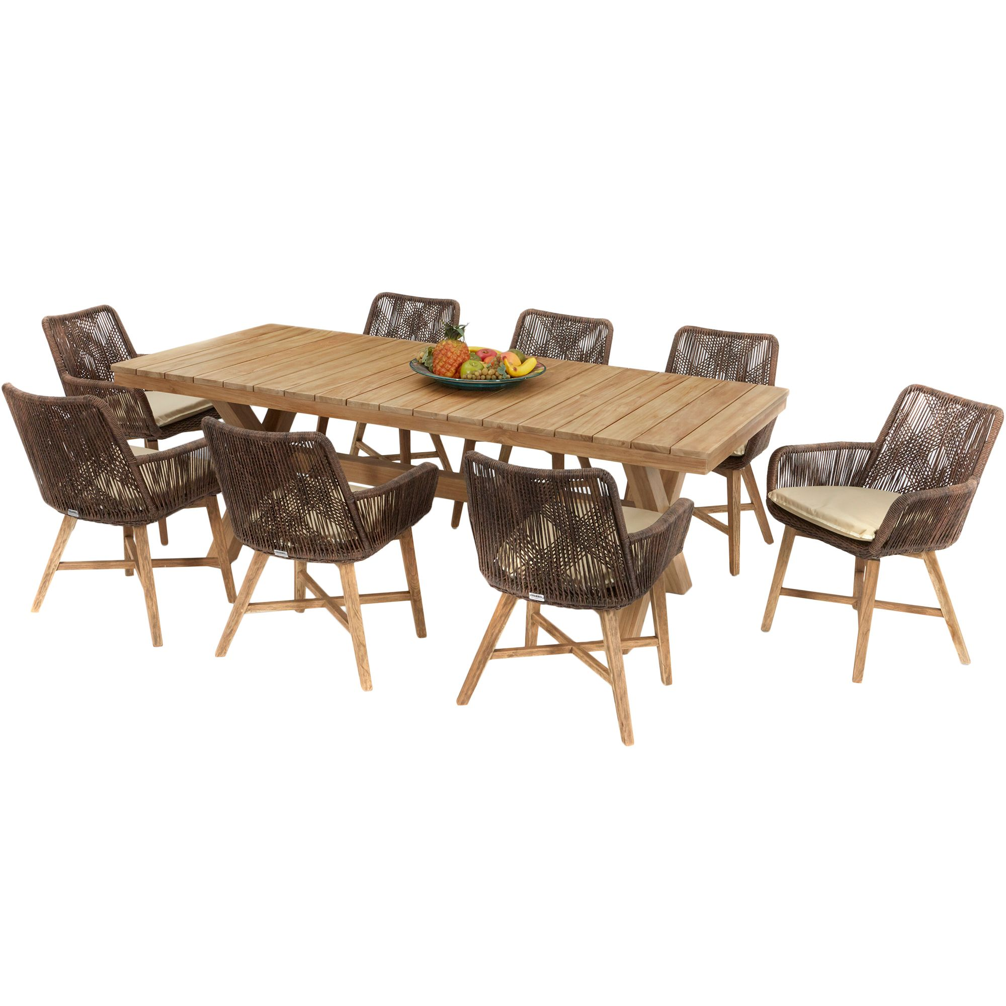 8 seater catalina outdoor dining table  chairs set