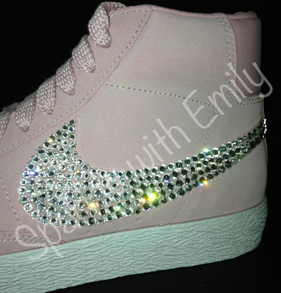 nike blazer pink glitter converse
