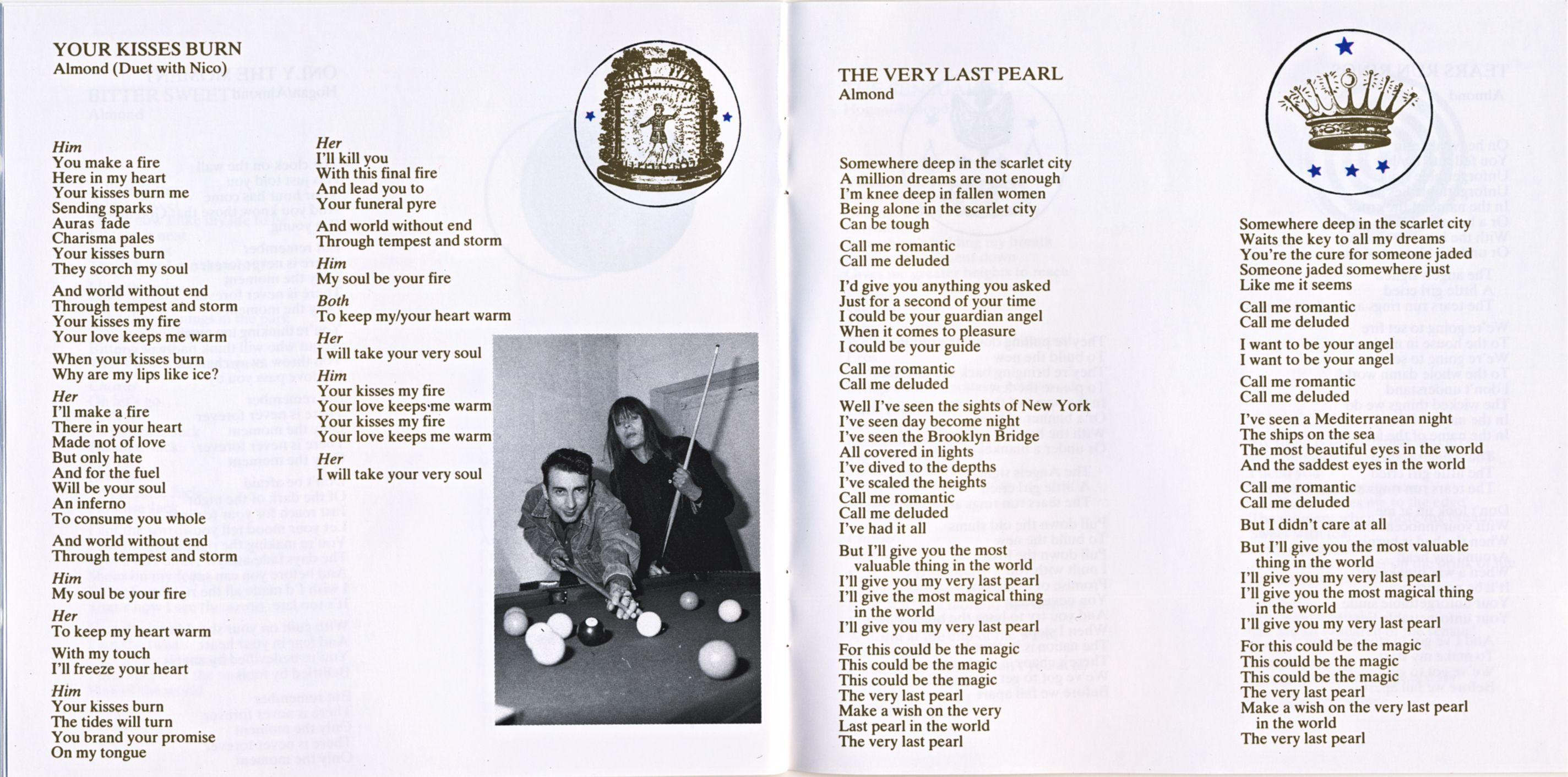 Marc Almond, The Stars We Are, 1989, booklet.