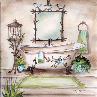 Rb1785 Nature Bath Ii 8x8 Cuadros Para El Ba O