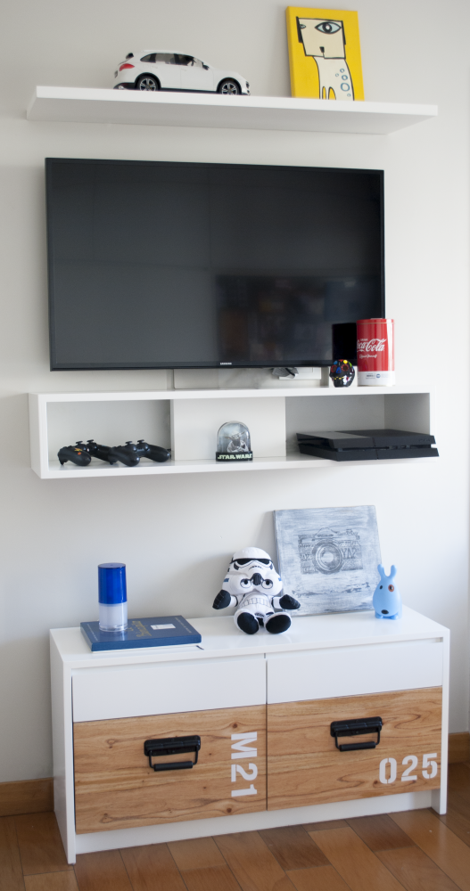 Boy Room - Dormitorio nene - mueble guardado - mueble TV -madera ...