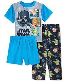 Star Wars Toddler Boys' 3-Piece Cartoon Pajama Set