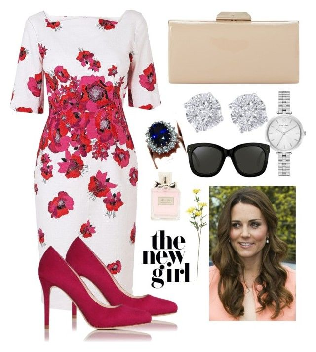"""Kate Middleton Series #4"" by theprissydiary ❤ liked on Polyvore featuring L.K.Bennett, Dune, Effy Jewelry, Kate Spade, Christian Dior, Linda Farrow and Ultimate"
