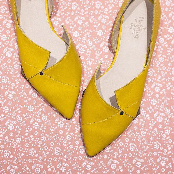 May yellow flats ballerina summer shoes spring shoes flats