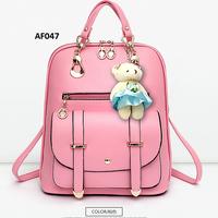 af047 pink tas wanita import ransel tas kuliah kado