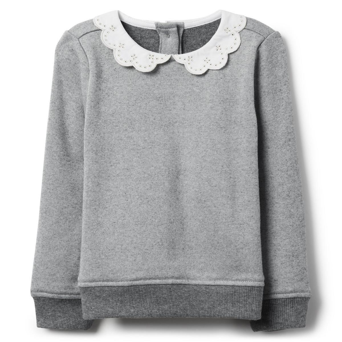 1d11594877c9e9 Eyelet Collar Sweatshirt | baby shopping list | Collared sweatshirt ...