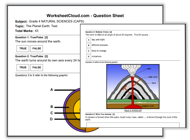 FREE Practice Exams South Africa WorksheetCloud (With