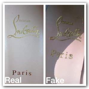 faf021a3b261 Louboutin ~real-vs-fake. On the inside of an authentic pair of ...