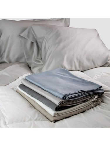 100 Sateen Bamboo Sheets Set Pillow Cases Top Sheet And Fitted