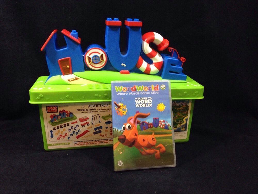 Word World Dog S House Mega Bloks Set Bonus Dvd Storage