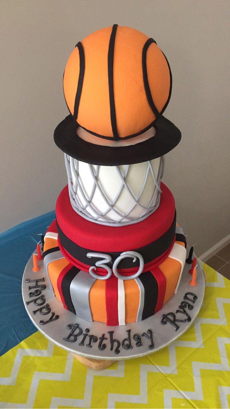 Basketball Cake Net 30 Birthday Miami Heat
