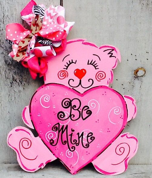 valentines sign valentines door hanger by angelascreativecraft