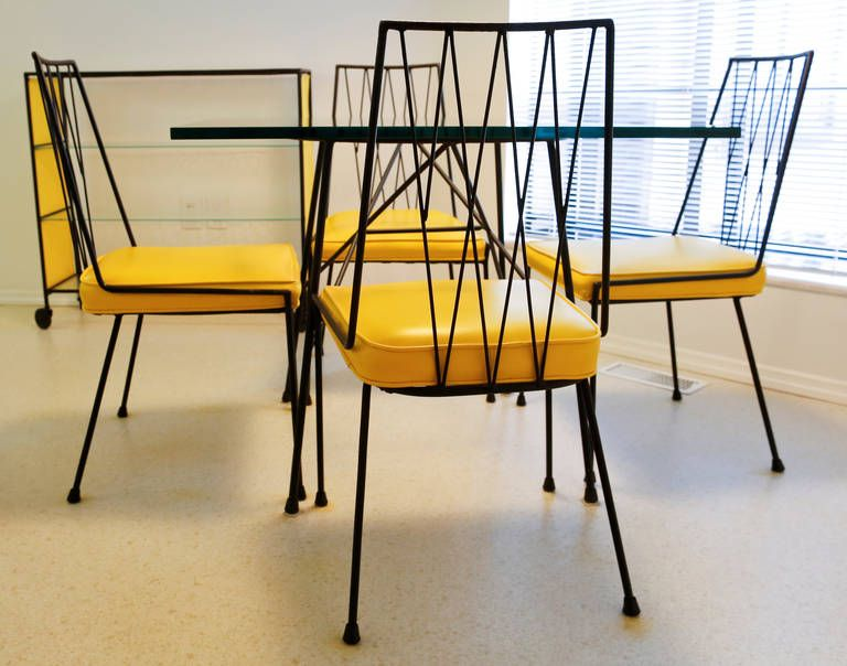Yellow Dining Set Designed By Paul McCobb For Arbuck