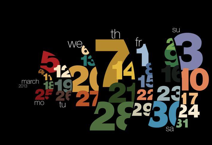 Calendar 2013 by Sudhir Kuduchkar, via Behance